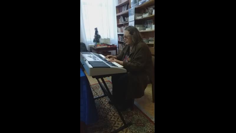 Беловодова А.К. исполняет мелодию из песни собственного сочинения Сероглазая