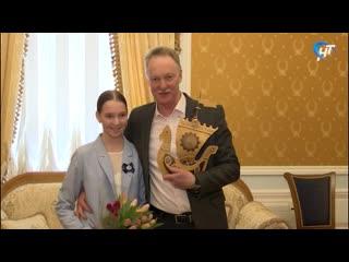 На областном женском форуме наградили победительницу конкурса «Золотая ладья» Марфу Николаеву