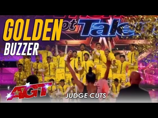 V Unbeatable Dwyane Wade Hits GOLDEN BUZZER For Indian Dance Group America's Got Talent 2019
