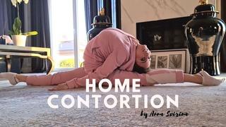 Stretching and flexibility. Contortionist Anna Svirina