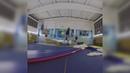 Прыжки на надувной акробатической дорожке TimeTrial AIR