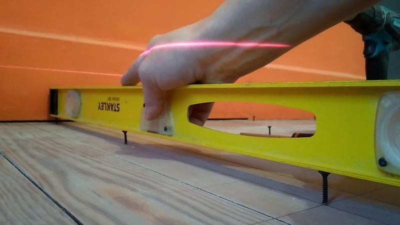 Выравнивание деревянного пола в 0 с перепадом 3см