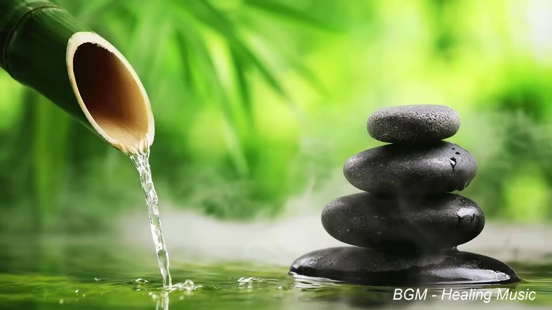 Relaxing music with the sound of nature Bamboo Water Fountain [Healing music BGM]