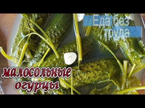 Малосольные огурчики, очень вкусные и хрустящие-Готовить еду быстро и вкусно