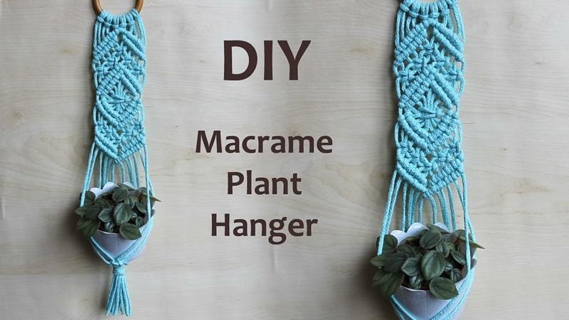 DIY Macrame Plant Hanger Tutorial   Macrame Wall Hanging   DIY PORTAMACETAS de Macrame paso a paso