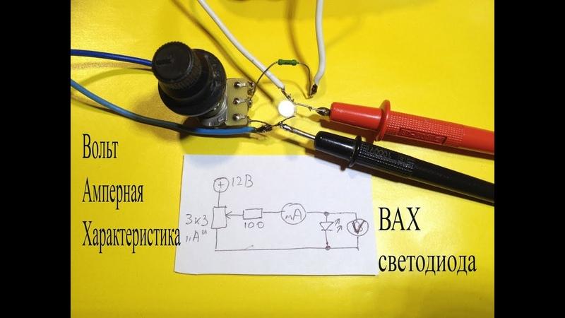 Артём Косицын - ВАХ-Вольт Амперная характеристика светодиода.Как ее узнать и проверить светодиод.