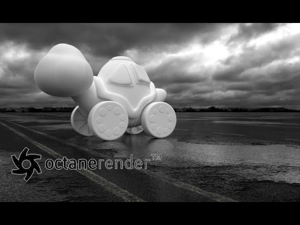 Octane Render Cinema 4D Creating an Asphalt Puddles