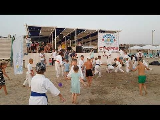 Морской Самурай! Морские тренировки спортклуба Самурай - каратэ с 3х лет