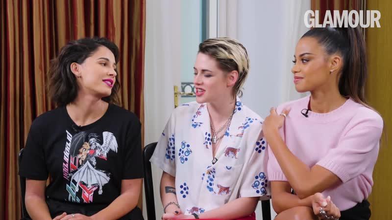 Kristen Stewart On Sexuality Body Image Sexism with Naomi Scott and Ella Balinska GLAMOUR UK