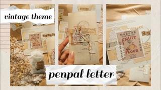 Penpal letter: бумажное письмо в винтажном стиле