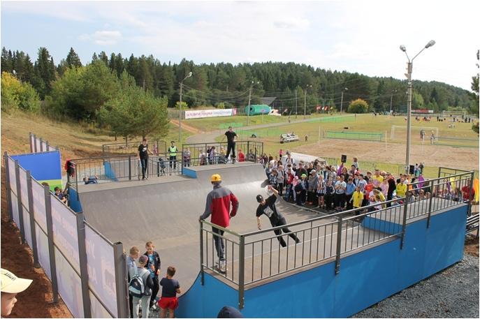 Скейт-парк в г. Очёр.