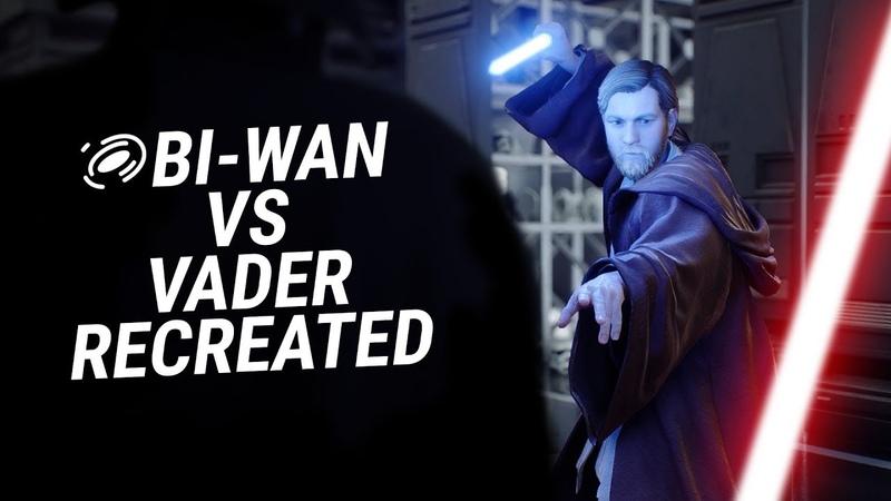 Obi-Wan VS Darth Vader (A New Hope) — Recreated in Battlefront II