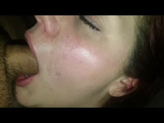 Sexy wife swallows my cock deethroat swallow we are taking requests
