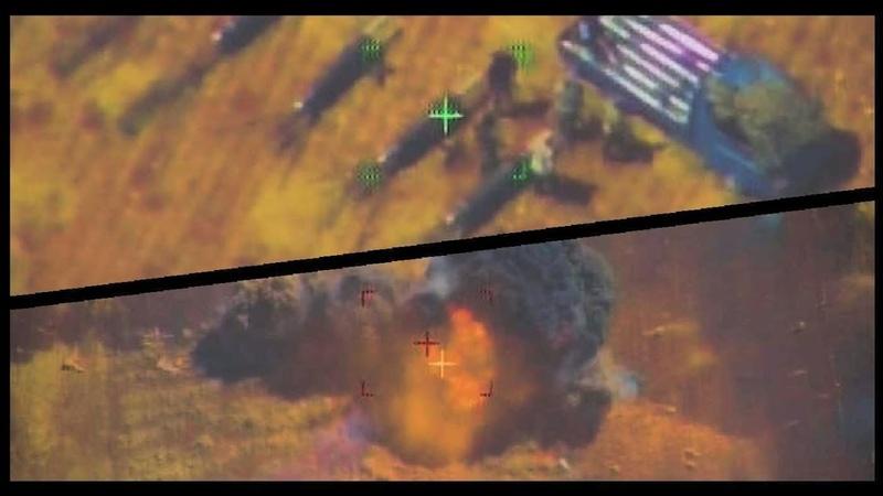 [Сирия] ВКС РФ стирают в пыль боевиков || Видео с беспилотника
