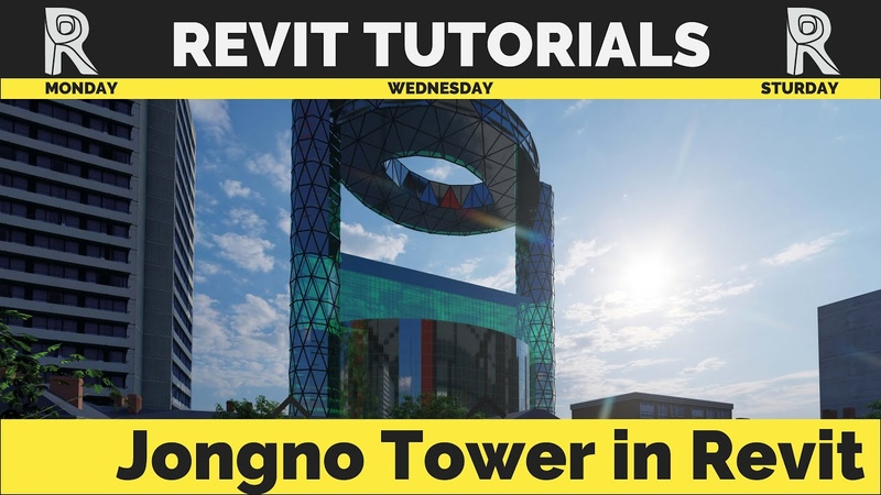 Jongno Tower in Revit| Mass Model | Korean week