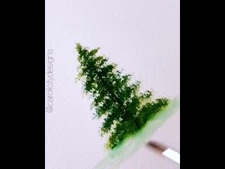 Учимся рисовать елку