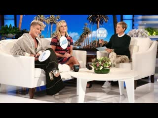 Reese witherspoon and p!nk play 'never have i ever' with ellen [rus sub]