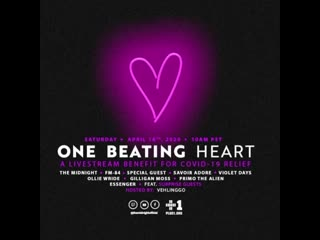 The Midnight: One Beating Heart: Livestream Fundraiser for Covid-19 Relief