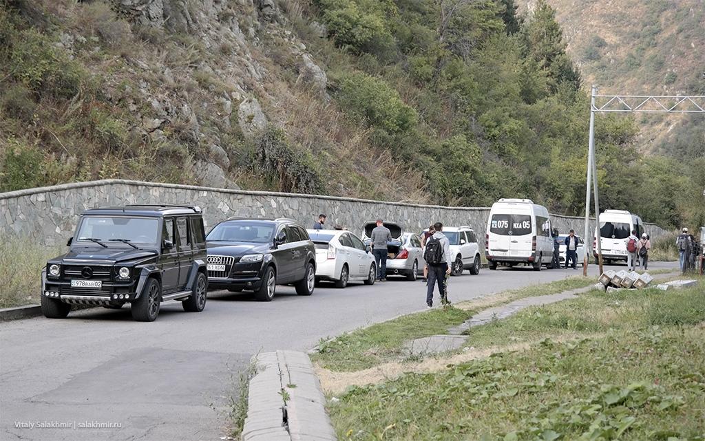 Парковка по дороге на Кок-Жайляу 2019