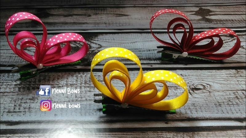 Pasadores o Broches de Mariposa   Butterfly Sculpture Clip Clack   Ribbon Bow