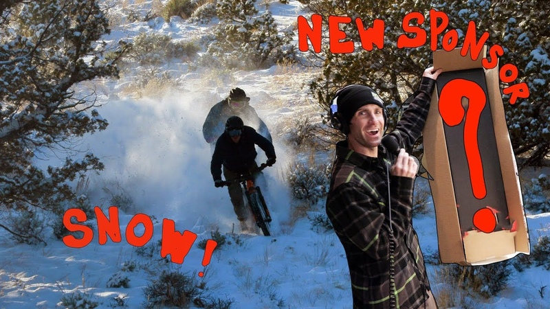 My New Sponsor DH Bike Tricks and Ebike in Snow
