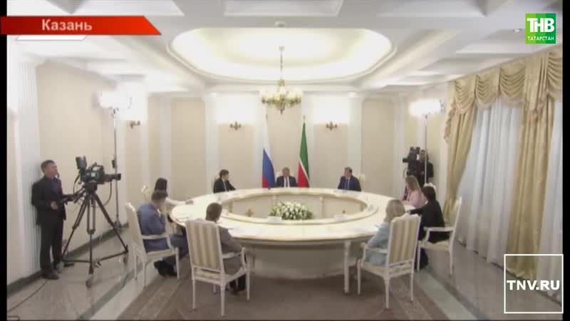 Рустам Минниханов дал большое интервью главным редакторам республиканских СМИ