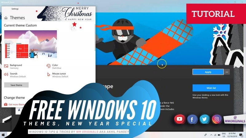 Best Windows 10 Themes 2020   How to Change Download FREE Windows 10 Themes ⛄ 2K20