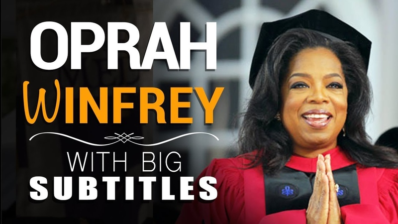 Learn English | Oprah Winfrey Its a story of who you want to be! (with BIG Subtitles)