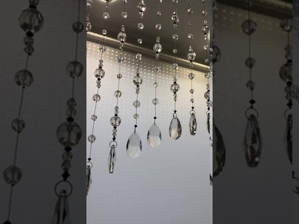 Хрустальные шторы с кристаллами Сваровски