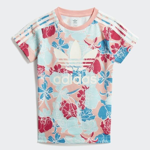 Комплект: платье-футболка и леггинсы