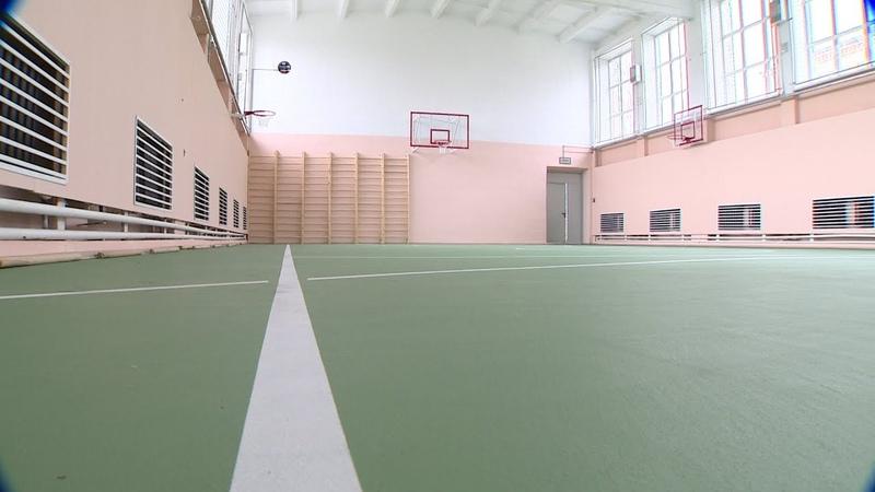 В Пошехонской школе № 1 открылся большой спортивный зал