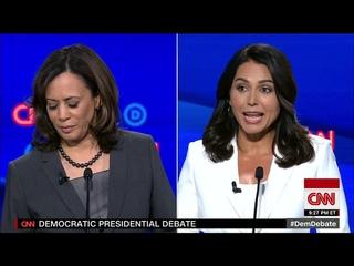 Kamala Harris dismisses Tulsi Gabbard as a Bashar al-Assad 'apologist' who is polling 'at zero'