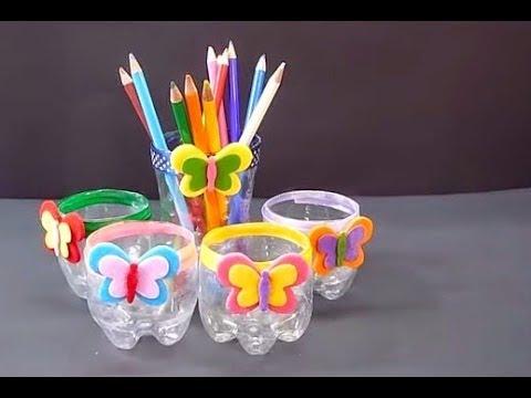 Kreasi Botol Minuman Bekas Jadi Tempat Sikat Gigi Dan Pensil