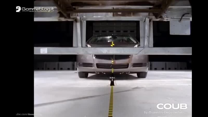 Car vs Truck Crash Test IIHS 2018 Safety FRONT IMPACT Crashes