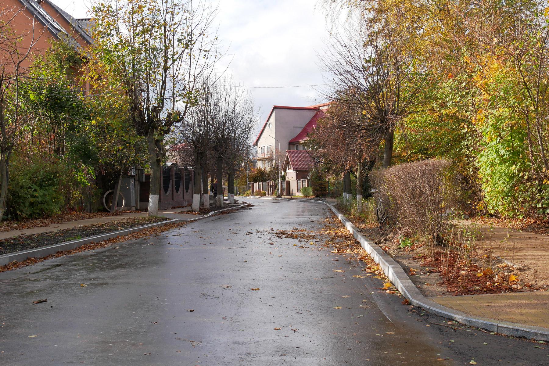Состояние ул. Ленина в западной части Зеленоградска 30 октября 2019