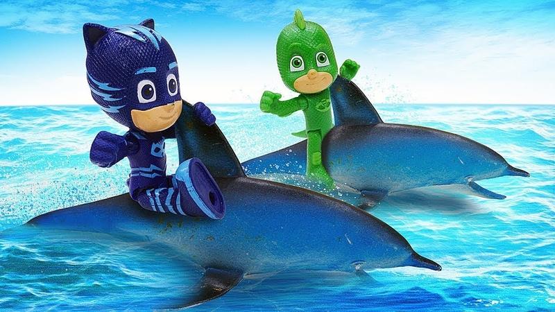 Spielzeug Video auf Deutsch PJ Masks retten die Unterwasserwelt Die Pyjamahelden gegen Romeo