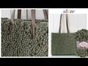 Alize Puffy Fine Kolay ve Kullanışlı Çanta - Easy and Useful Bag Tutorial
