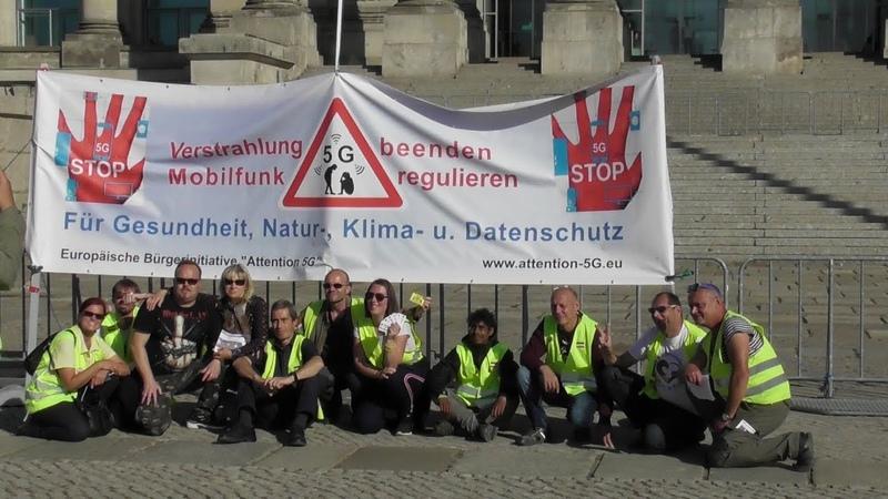 Gelbe Westen Berlin und staatenlos.info am Reichstag 22.09.2019 und 5G Demo