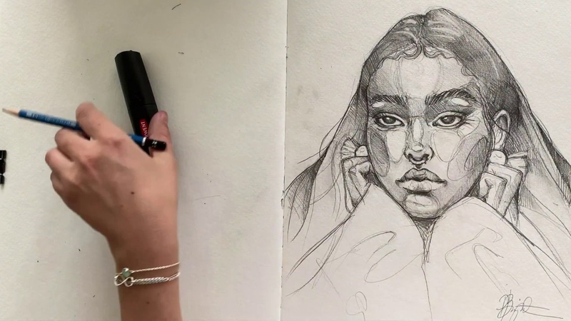 HOW TO DRAW A FRONTAL PORTRAIT Step by step tutorial
