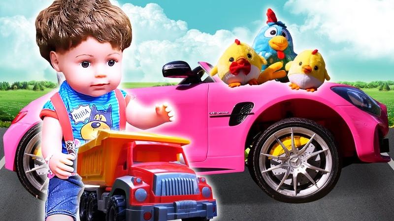 Видео для малышей про машинки Клоун навел порядок на дороге Игрушки для детей и Беби Бон за рулем