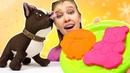 Как слепить из пластилина блинчики Игры для детей в Плей До. Как мама игрушки Шоколадки
