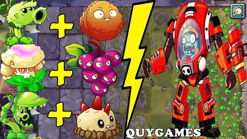 Best COMBO Plants Vs Z-Mech Zombies in Plants vs Zombies 2 Arena