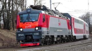 Электровоз ЭП20-038 с поездом№740А Брянск-Москва перегон Латышская-Нара