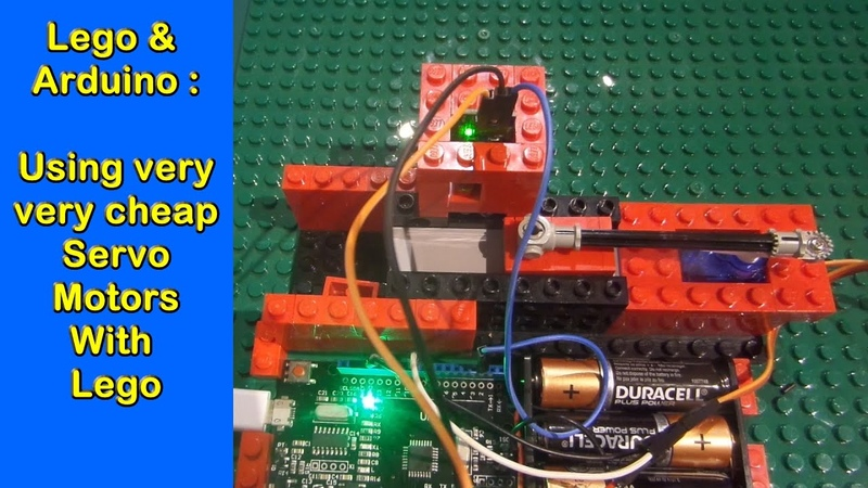 Lego Arduino 1 Using very very cheap servos with your builds