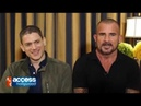 Wentworth Miller Dominic Purcell talk about working together on The Flash