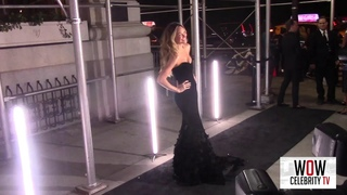 Candice Swanepoel Arrives to Harpers Bazaar Icons Party in New York City
