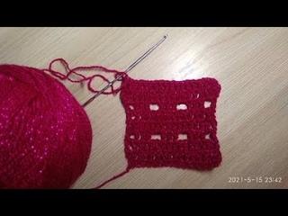 Универсальный узор на все случаи жизни крючком/Simple crochet pattern for summer