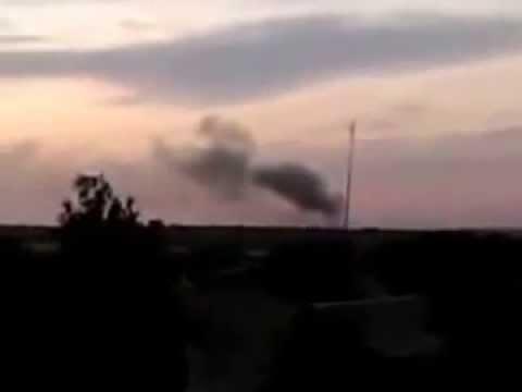 Гуково Россия обстреляла позиции украинских военных из РСЗО ГРАД 16 07 2014
