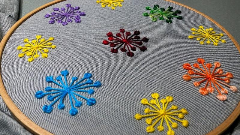 Hand Embroidery: Kashmiri Ball Stitch