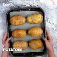 """id_55718 Картофельные """"Лодочки"""" с ветчиной 🍴  Автор: cookist  #gif@bon"""